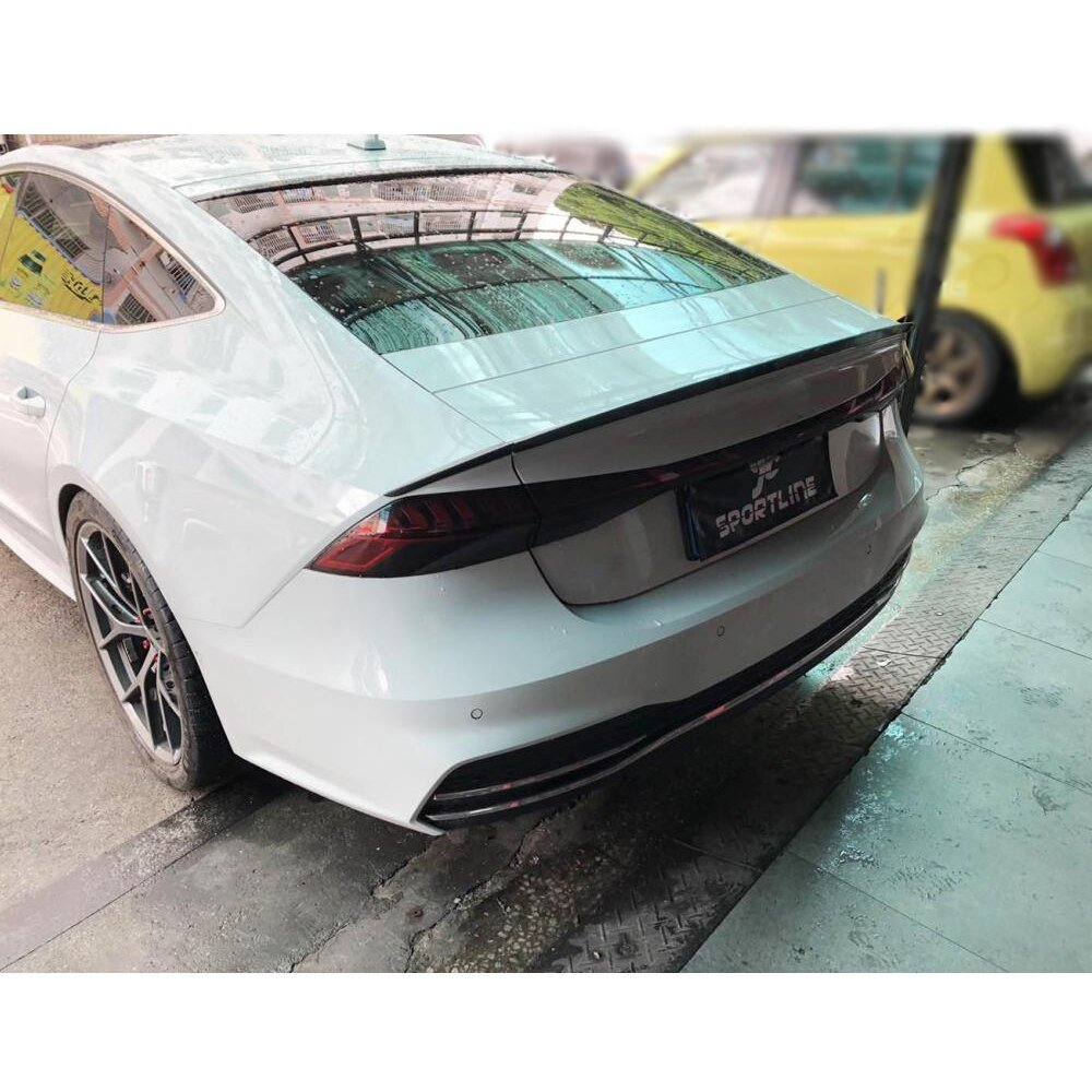 Carbon Fiber Rear Trunk Spoiler Boot Lip Wing For Audi A7